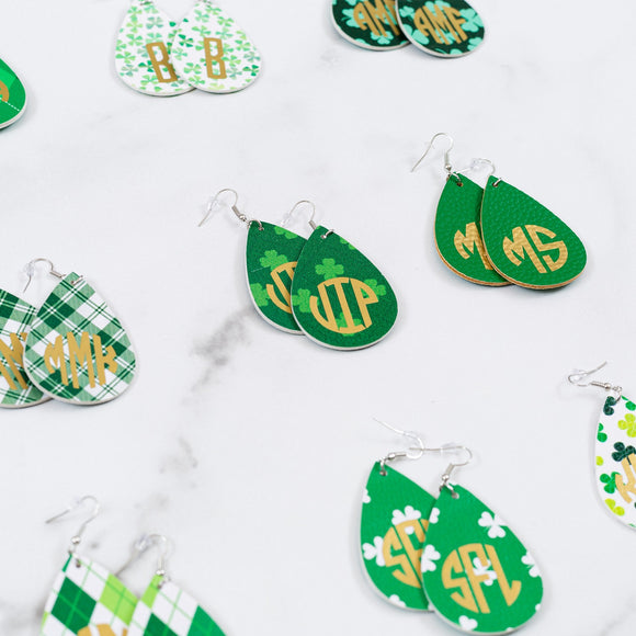 Shamrock Earrings | Monogrammed