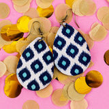 Moroccan Printed Earrings - Wood Earrings