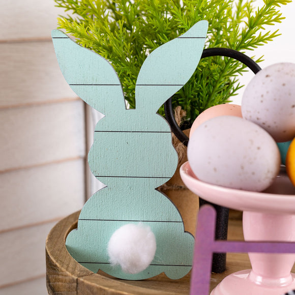 Custom Shiplap Cottontail Bunnies | 3 Pack