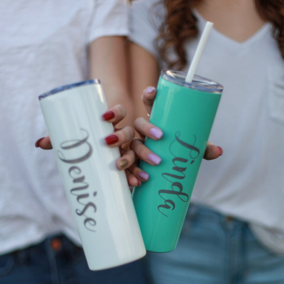 Personalized Skinny Tumblers Engraved