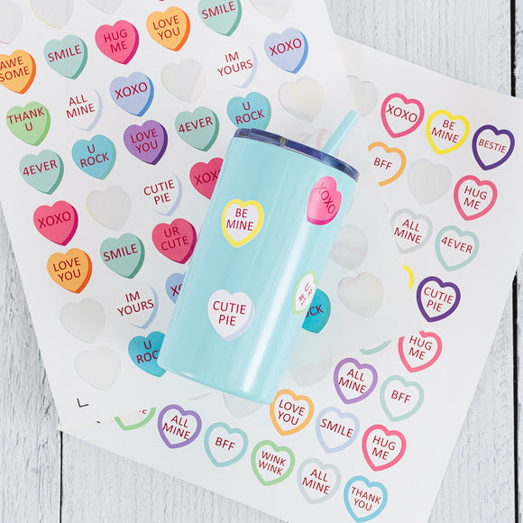 Valentine Conversation Stickers - 2 Full Sheets