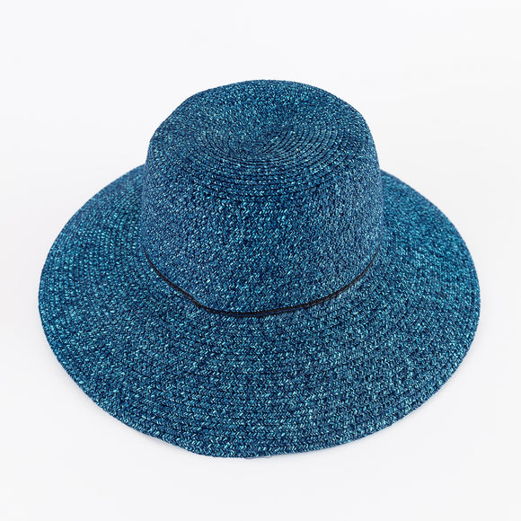Blue Straw Sun Hat | Clearance