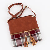 Plaid Tassel Cross-Body