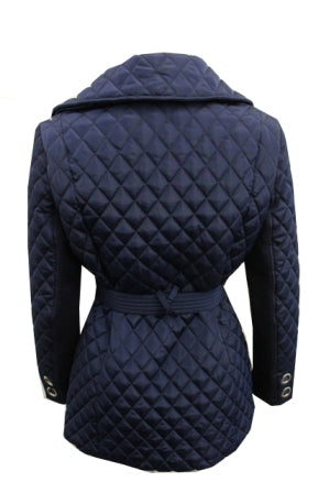 Moka Quilted Wrap Coat