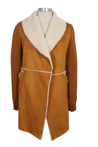 CoffeeShop Faux Shearling Long Jacket