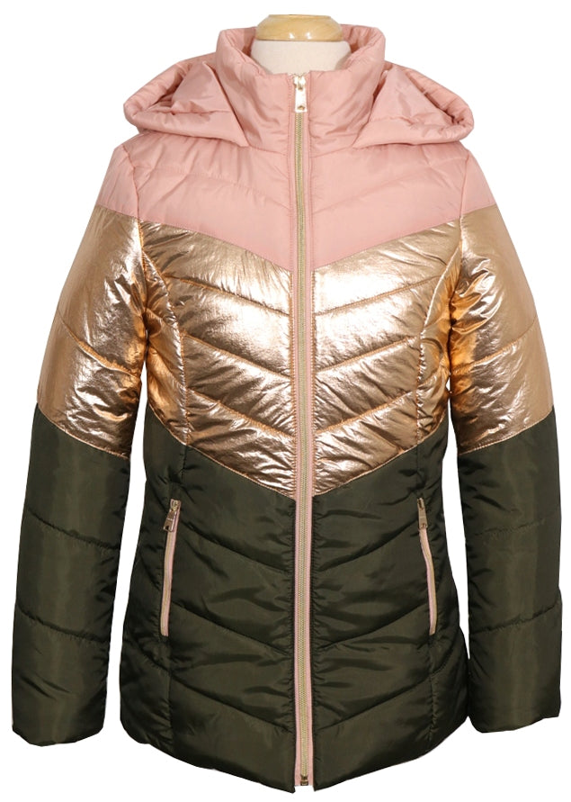 CoffeeShop Girls Color Block Puffer Jacket