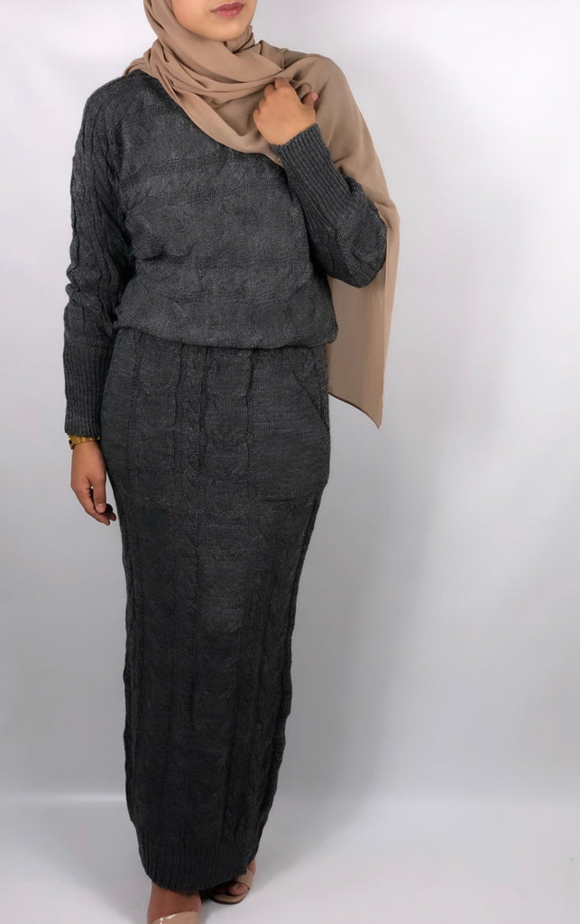 Ensemble cosy Gris