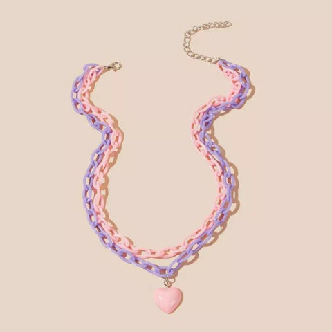 Pastel Layered Chain Necklaces