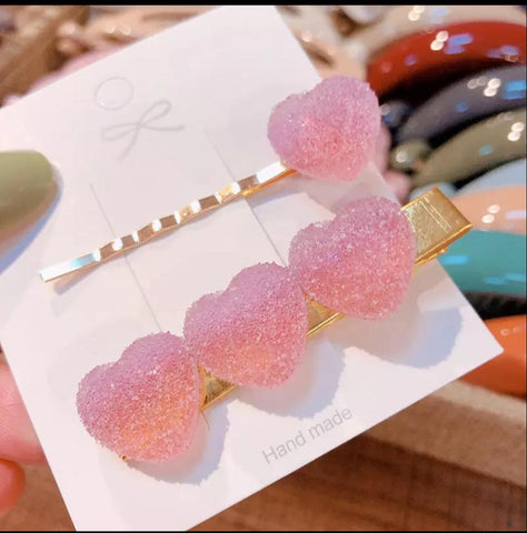Sour Gummy Heart Barrettes