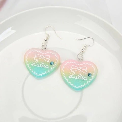 Lolita Heart Earrings 💖