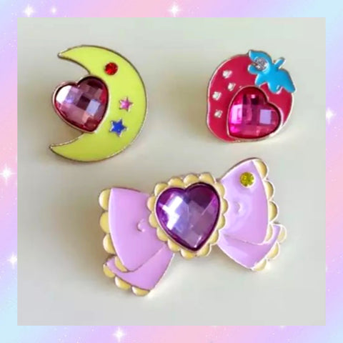 Super Cute Rhinestone Enamel Pin