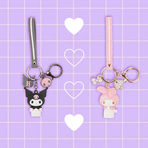 Sanrio Best Friends Key Straps 🖤💗