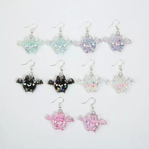 Cute Bat Acrylic Earrings