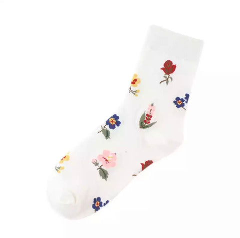 Sweet Floral Pattern Socks