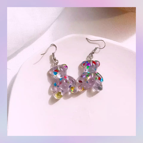 Gummy Bear Resin Earrings