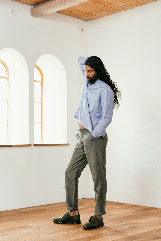 Injected Linen Pants