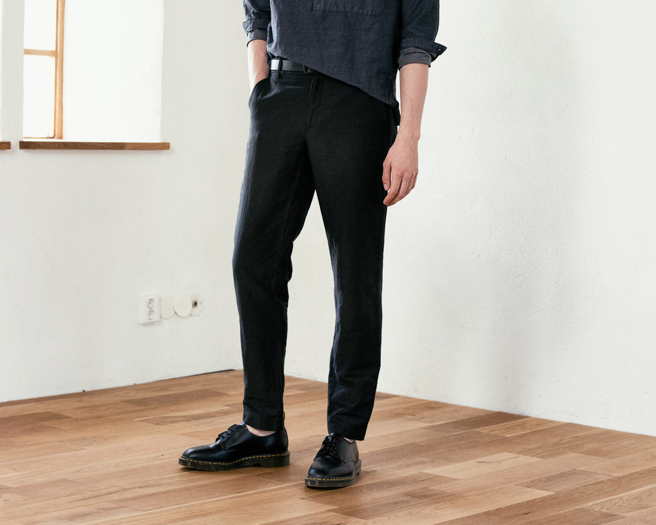 Injected Linen Pants - Fit