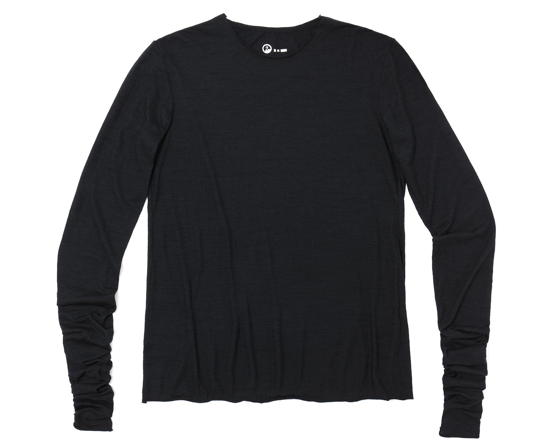 Flat front image of the dreamweight Rawcut Longsleeve in Black