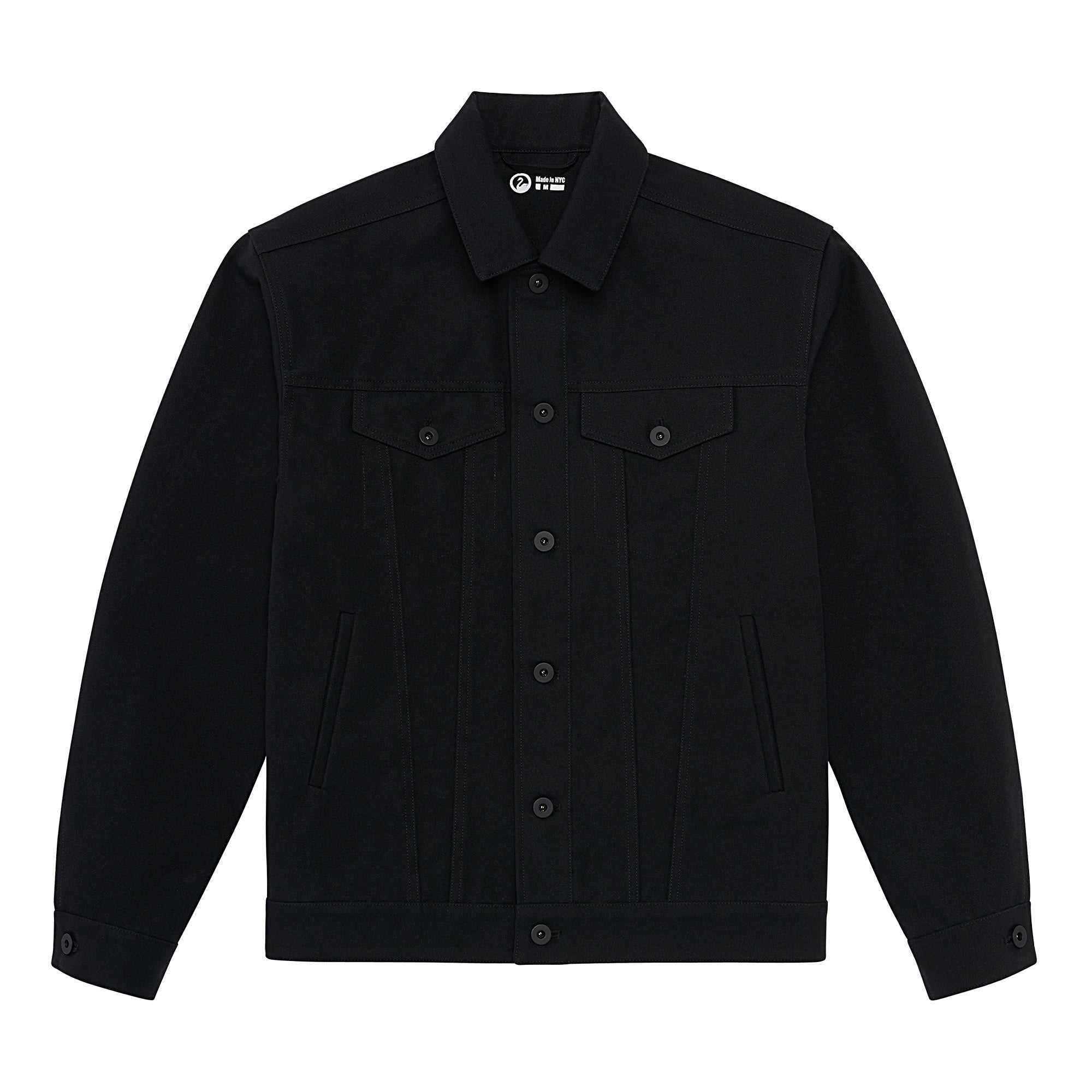 Full flat image of the Experiment 249 - Duckcloth Shank Jacket in Black