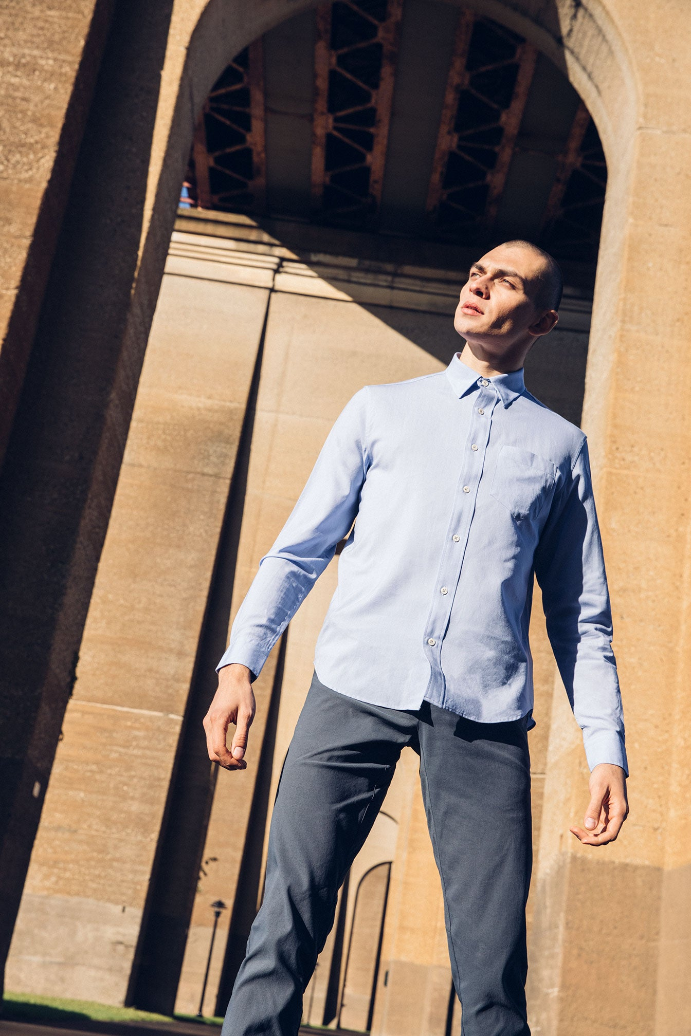 Albini Merino Broadcloth Button Up Fit