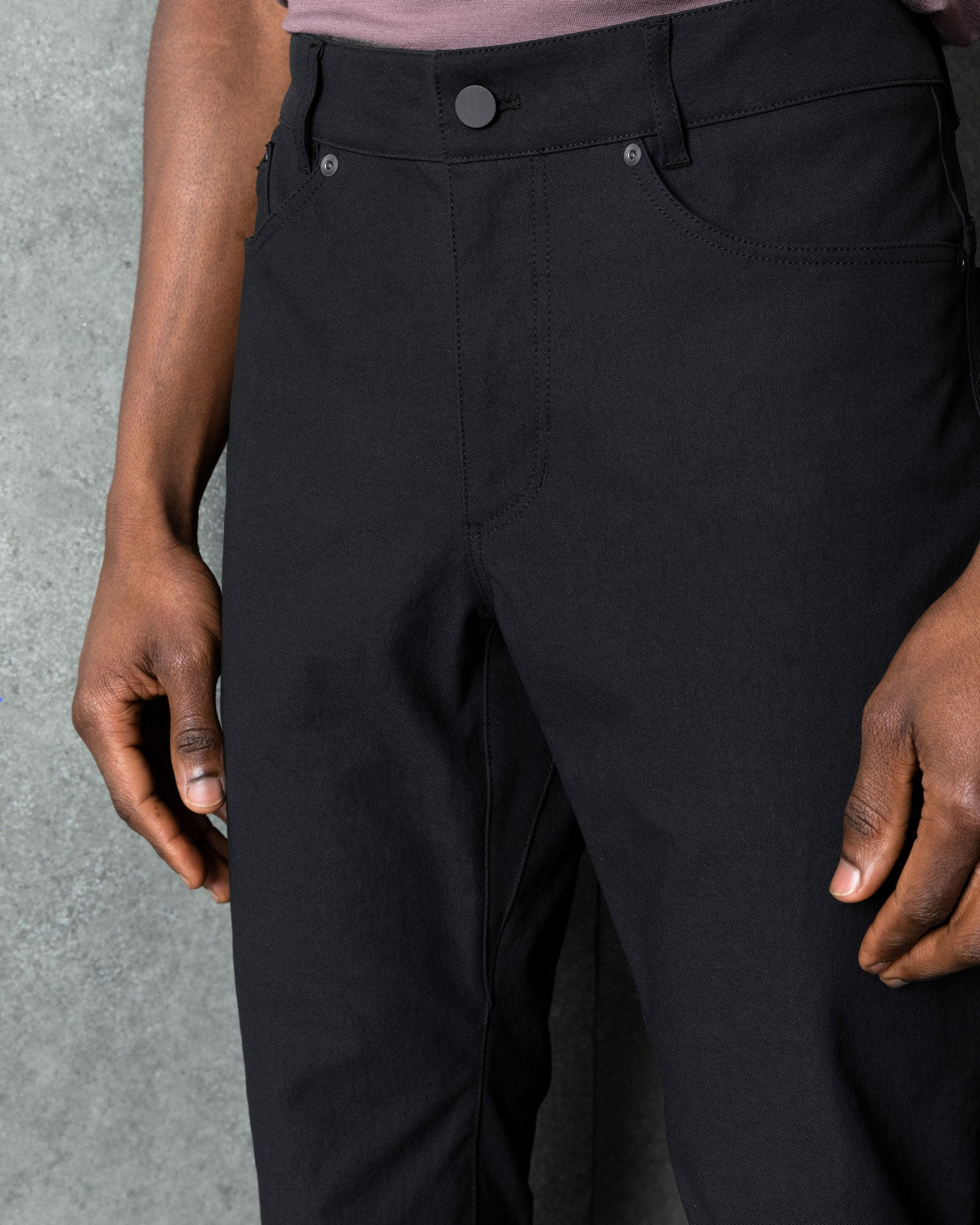 Tight crop of the Bomb Dungarees on Babajide