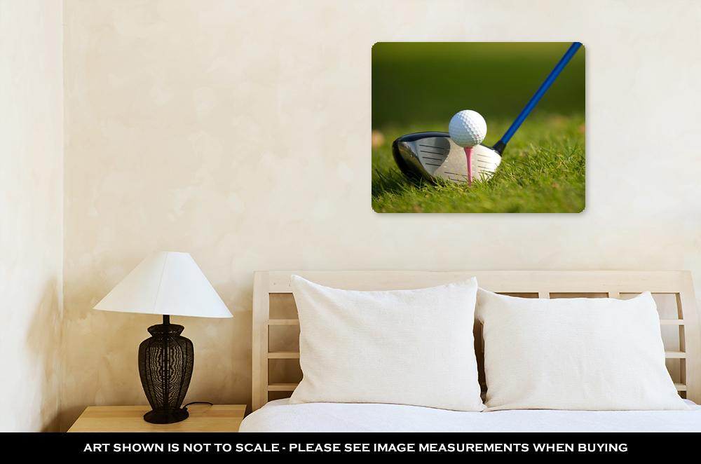 Metal Panel Print, A Golf Club On A Golf Course