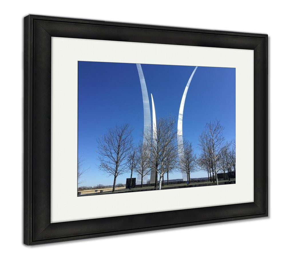Framed Print, Airforce Memorial In Washington Dc
