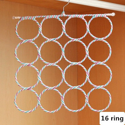 Simply life Creative O Shape Ring Hook Scarves Rack