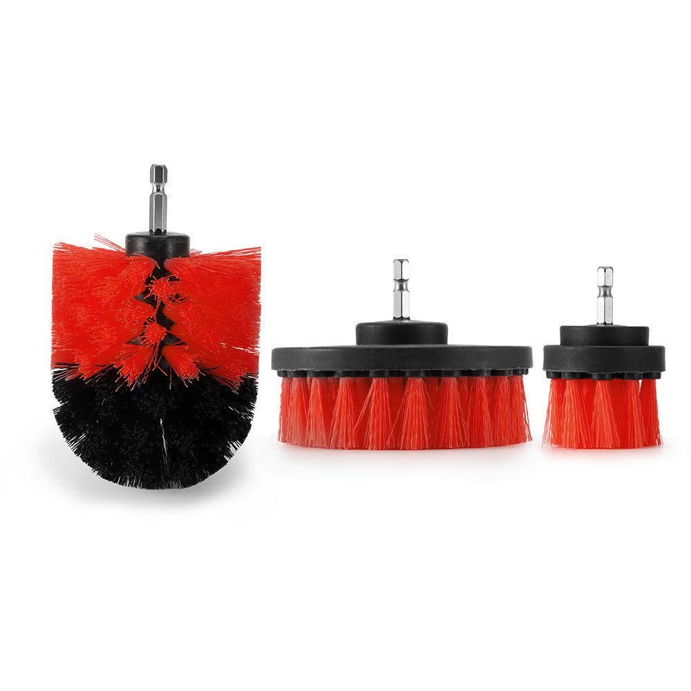 3Pcs Round Full Electric Bristle Drill Brush Rotary Cleaning Tool Set