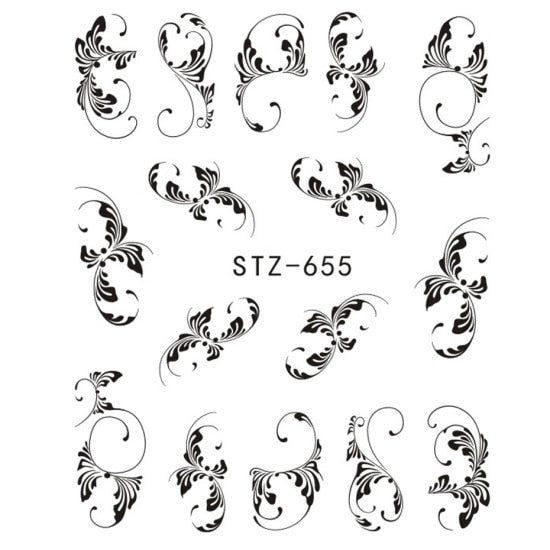 Temporary Water Transfer Nail Tattoo Sticker