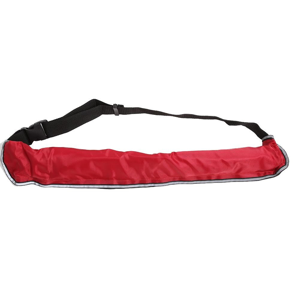 Adjustable Inflatable Life Jacket Belt With Reflective Tapes and Whistle
