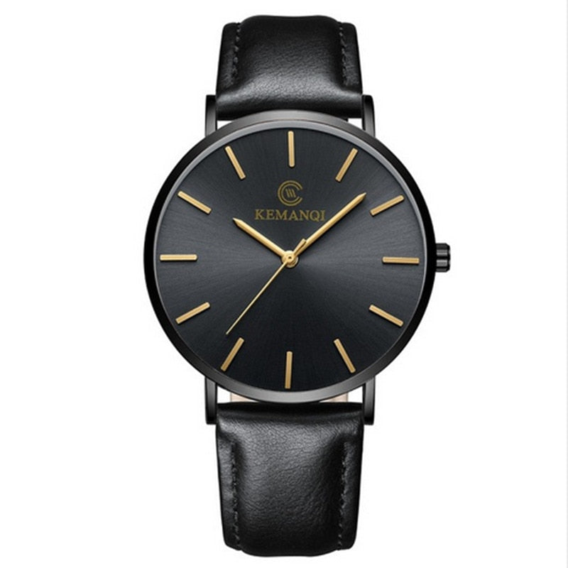 Ultra-thin Leather Wrist Watch