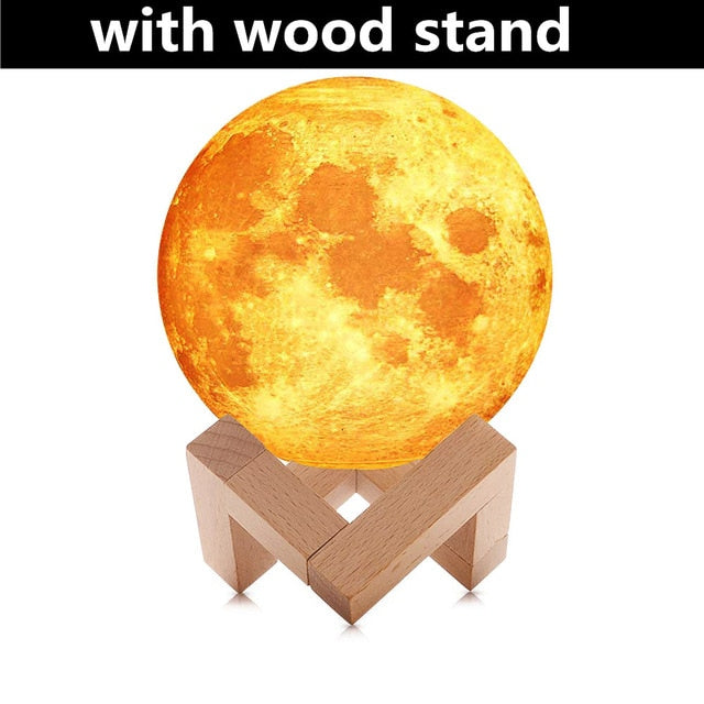3D Moon Lamp Light Ultrasonic Humidificador