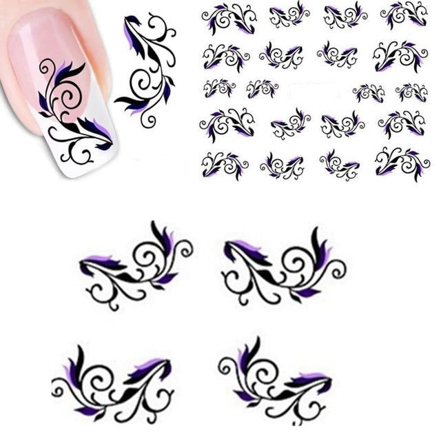 French Decal Wrap Nail Decorations