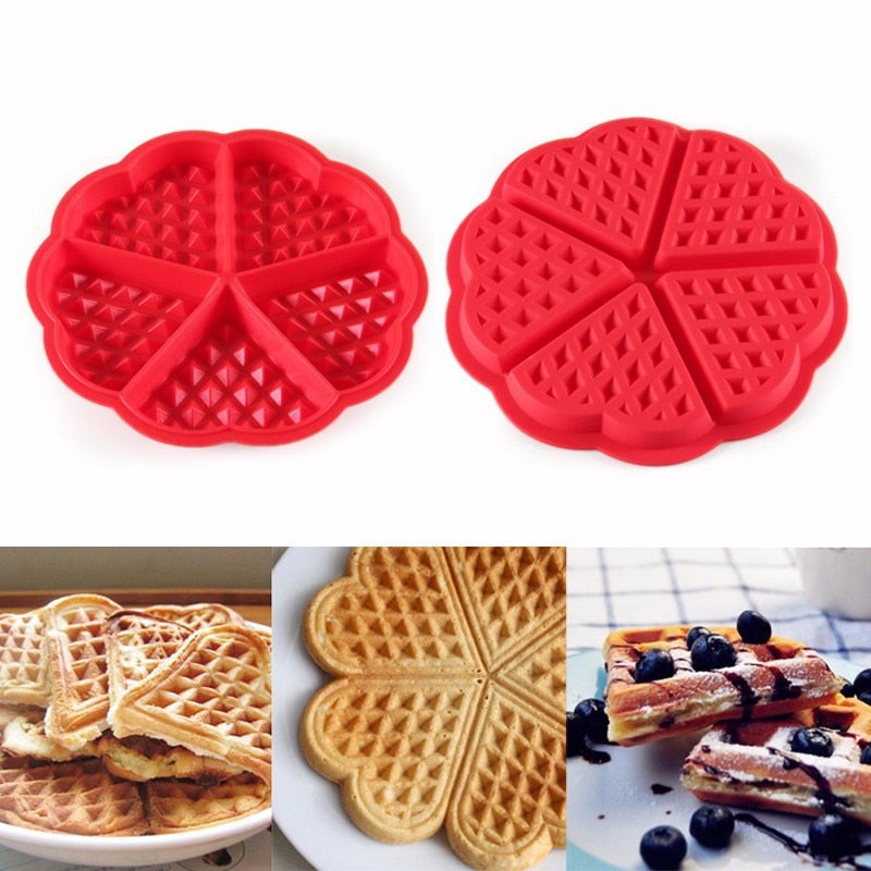 Non-stick Silicone 5-Hold Waffle Mold
