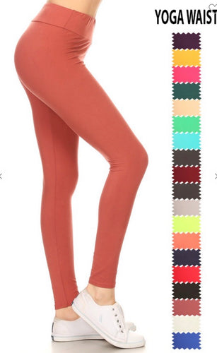 Yoga Waist Buttery Soft Leggings - 5 Colors