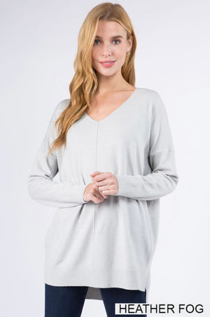 Dreaming For Days Dreamer Sweater - Heather Fog
