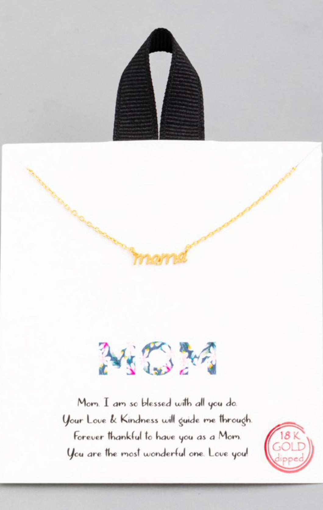 Dainty Mama Pendant Necklace - Gold & Silver