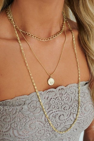 Under the Sun- Layered Chain Necklace