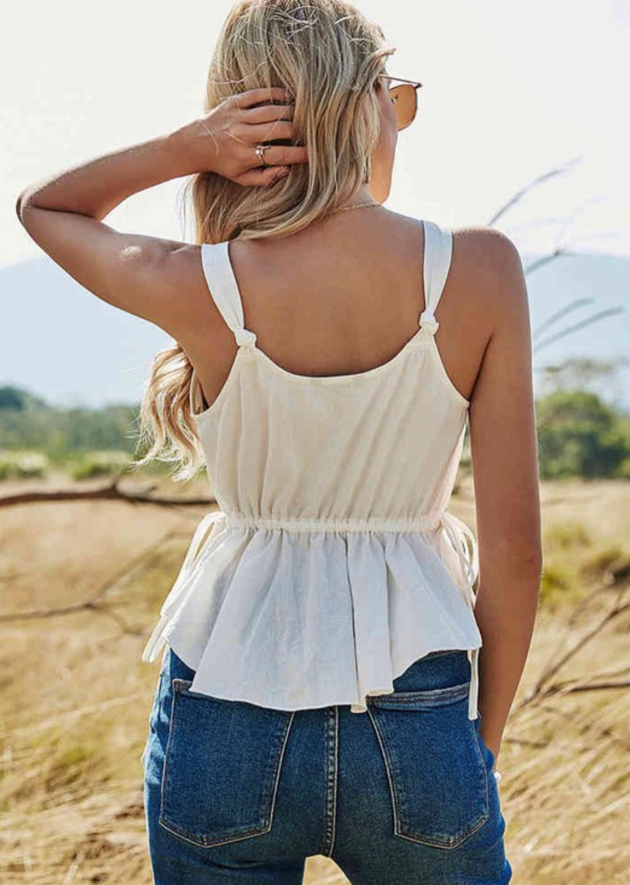 Lost in Lust Cropped Top- White