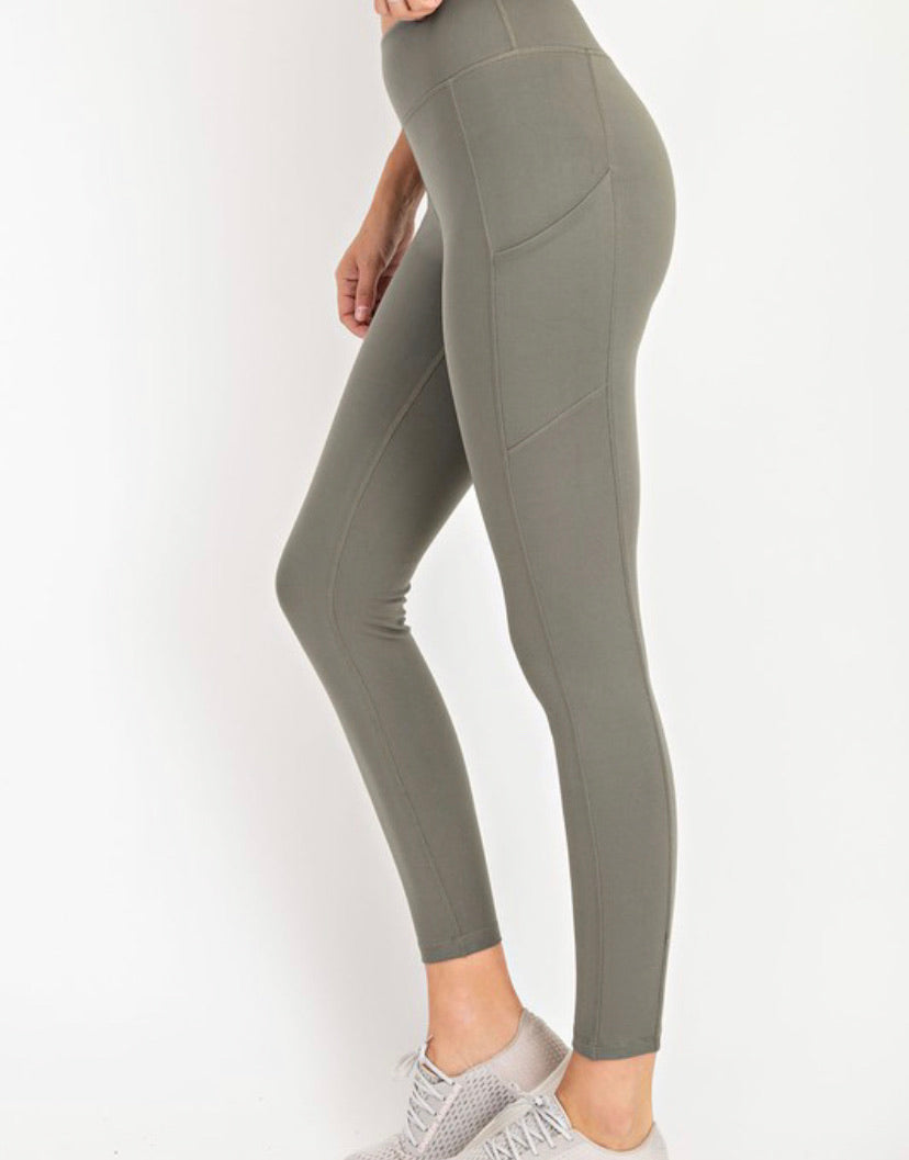 GiGi Butter Leggings- Grey/Sage