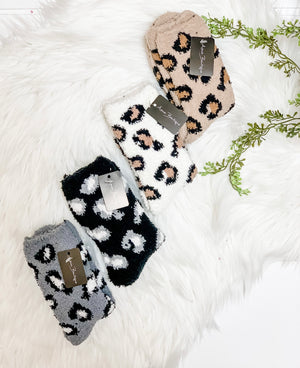 Cozy Leopard Socks- 4 colors available