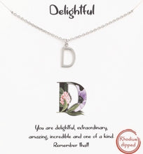 Load image into Gallery viewer, Silver Initial Necklaces - Multiple Letters Available