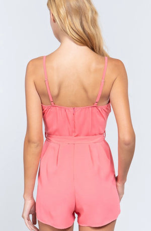 Hold You To It Romper- Pink