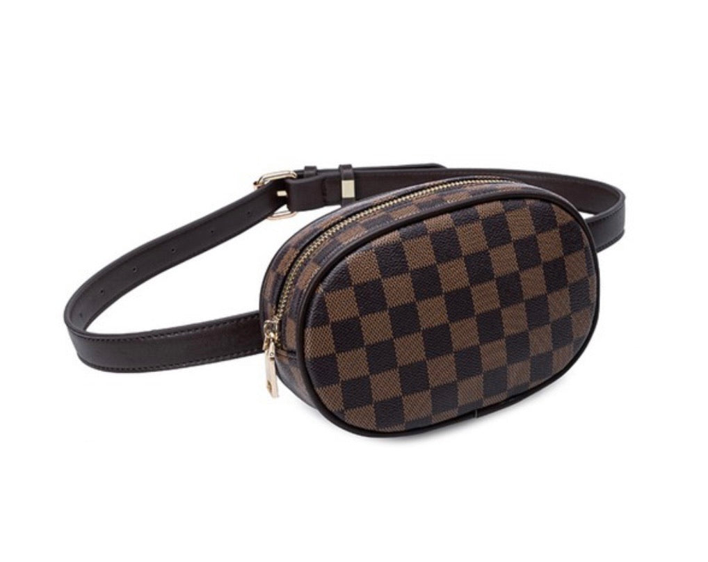Tres Chic Checkered Fanny Pack- 3 colors available