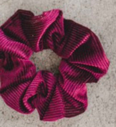 Toss it Up Ribbed Velvet Scrunchie