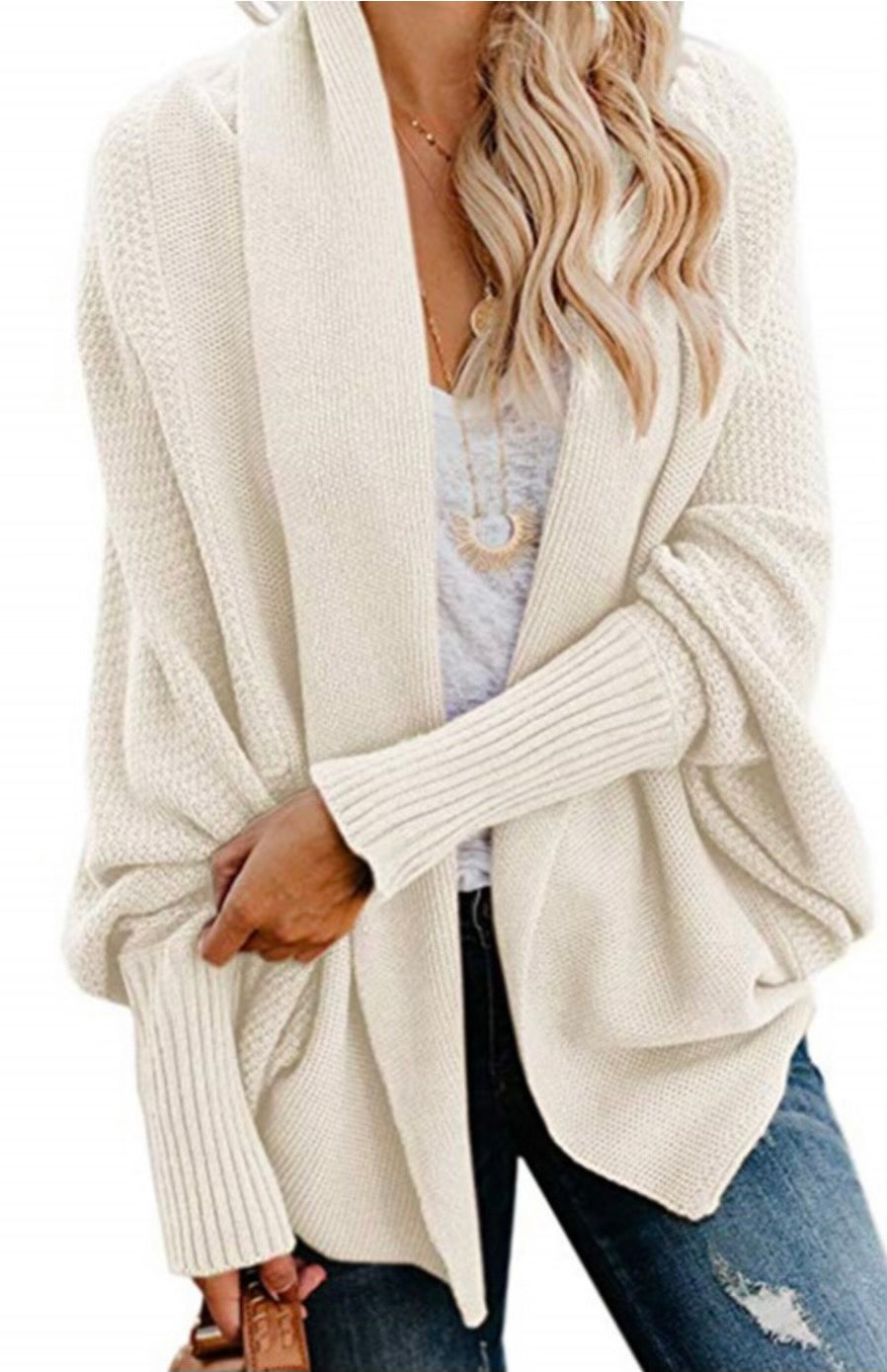 Remember That Night Chunky Knit Cardigan- Beige