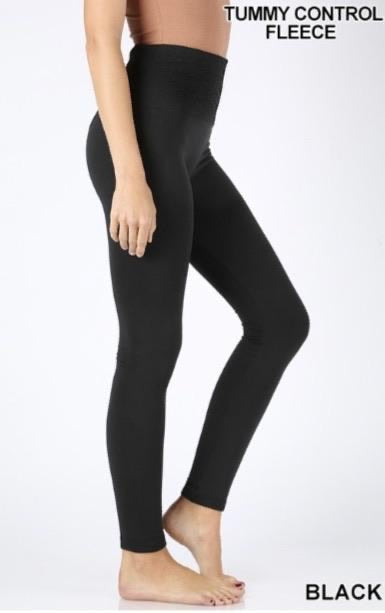 High Waisted Fleece Lined Leggings- ONE SIZE