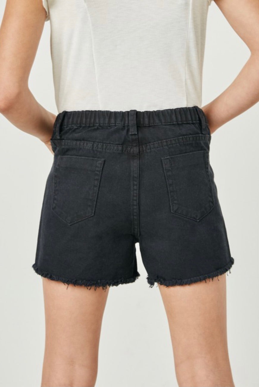 GIRLS- Down To You Denim Shorts- Black