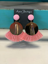 Load image into Gallery viewer, Here For The Party Circular Fringe Earrings- 3 Colors Available